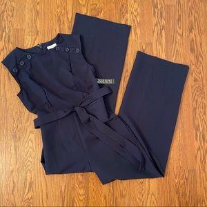 NEW NY&C Navy Sleeveless Wide Leg Jumpsuit Size XS